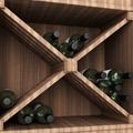 Weinflaschen Wandregal