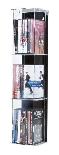 DVD-Tower mit schwarzer Rückwand