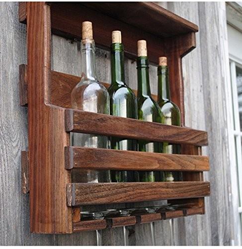 Global- American Village Stil Holz Wein Weinschrank / Weinregale / Wein Tasse Inhaber / Wandregal / Pflanze Stand, Wohnzimmer Wand hängen Dekoration Rack Wall Frame