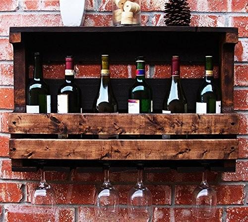 Flashing- Amerikanischen Retro-Stil Holz Wein Weinschrank / Weinregale / Wein Tasse Inhaber / Wandregal / Pflanze Stand, Wohnzimmer Wand hängende Dekoration Rack Wall Frame ( größe : 50*42*13cm )