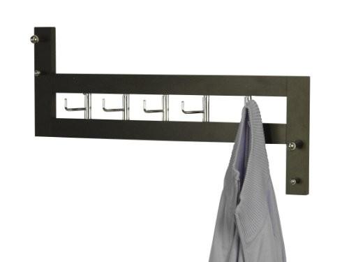 Heinz Hofmann 1012.S Wandgarderobe / Massivholz / schwarz / B. 60 x T. 8 x H. 36 cm