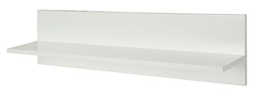 roba Wandregal, Wandboard weiß, Einrichtungs-Regal f, Wand über Kommode oder Bücherregal, Möbel