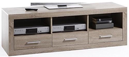 6.6.5.2898: Kommodenprogramm k4 - schönes TV-Bord - großes TV-Element 147cm breit - Fernseh-Lowboard sonoma eiche dekor - mit drei Schubladen