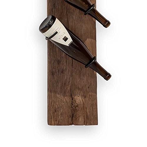 Wein Wandregal aus Eiche Holz modern Pharao24