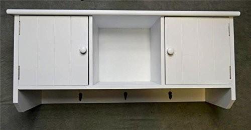 Livitat® Wandschrank Schrank Hängeschrank 80 cm Wandregal Küchenschrank Landhaus Weiß LV1063