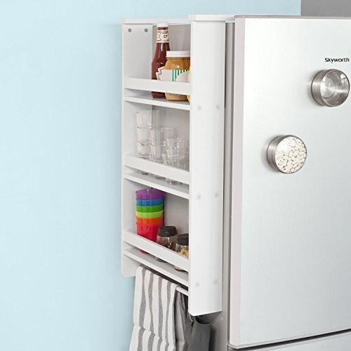 SoBuy® Hängeregal für Kühlschrank, Türregal, Badregal, Küchenschrank mit 3 Ablagen, FRG150-W