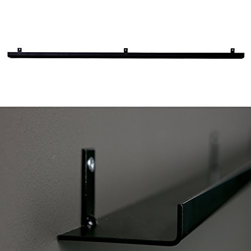 Ablageboard Regal 120 cm Metall Bücherregal Dekoregal Wand Board Wandregal (schwarz)