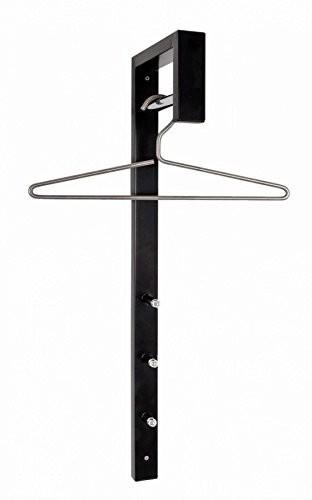 HAKU Möbel 89545 Wandgarderobe 4 x 20 x 70 cm, chrom / schwarz