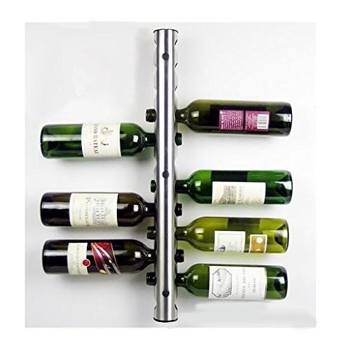 MagiDeal Weinregal Wandregal 63cm aus Metall für 12 Flaschen Flaschenständer Flaschenhalter