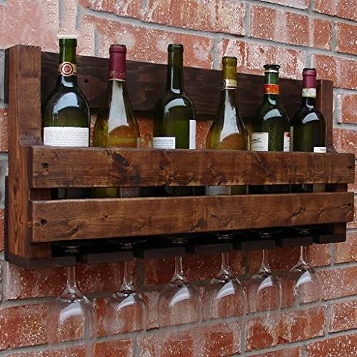 FAFZ Wein-Rack Retro amerikanischen Massivholz Wein Rack Wand Wand Weinschrank Weinständer Bar Racks Weinhalter Weinregale ( größe : 70*35*13cm )