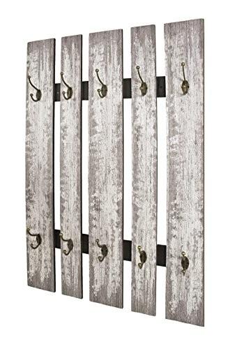 HAKU Möbel 32950 Wandgarderobe, Stahl, grau, 9 x 65 x 100 cm