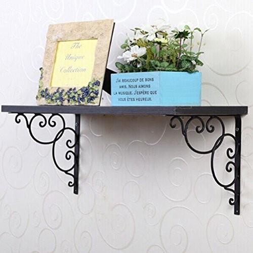 BESTOMZ 2 Stück Wandregal Wandkonsole für Buch Rack Calpboard