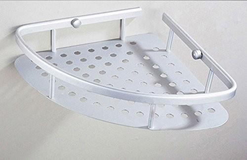 niceeshop(TM) Raum Aluminium Anhänger Toilette Gestelle Regale Wand Badezimmer Eckregal, Matt Farbe