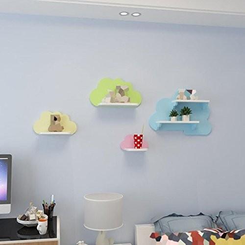 YJH+ Trennwände, Kreative Farbe Einfache Wohnzimmer Clubhaus Schlafzimmer Wand Regal Wand Hängende TV Kulisse Dekoration Wolken Regalfarbe Schön und großzügig ( größe : 45 cm )