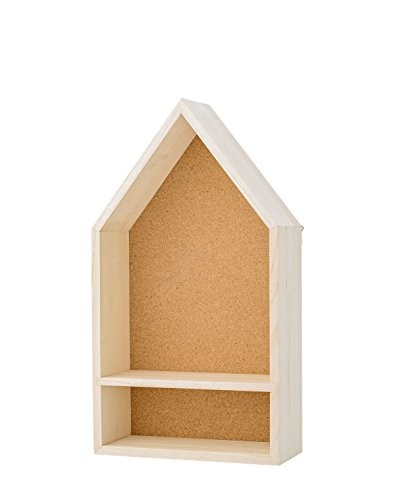 Bloomingville - Wandregal, Regal, Display Box, - Haus - Paulowniaholz - L25xH45xW10 cm