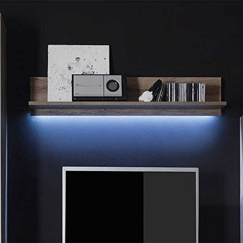 Wandboard in Eiche San Remo LED Beleuchtung Ohne Beleuchtung Pharao24