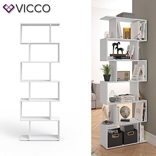 VICCO Raumteiler LEVIO weiß Bücherregal Standregal Aktenregal Hochregal Aufbewahrung Regal
